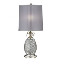 Hospitality 26 inch 100 watt Polished Nickel Table Lamp Portable Light