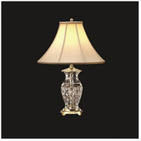 Kingsley 22 inch 100 watt Polished Brass Table Lamp Portable Light
