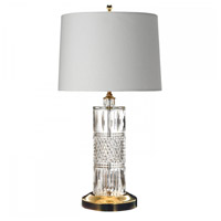 Irish Lace 24 inch Polished Brass Table Lamp Portable Light