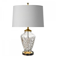 Avery 40 watt Polished Brass Table Lamp Portable Light