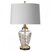Avery Polished Brass Accent Lamp Portable Light