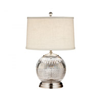 Lismore Diamond 22 inch Satin Nickel Table Lamp Portable Light