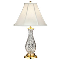 Waterford Crystal Ashbrooke 28 inch Polished Brass Table Lamp Portable Light