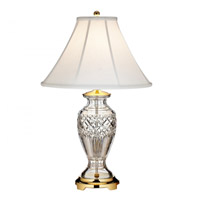 Waterford Crystal 40022913 Kilmore 28 inch Brass Table Lamp Portable Light
