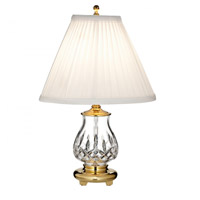 Waterford Crystal 40023054 Lismore 15 inch Polished Brass Accent Lamp Portable Light