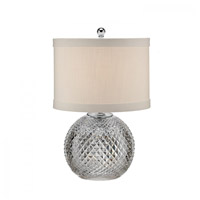 Waterford Crystal 40023731 Alana 19 inch Chrome Accent Lamp Portable Light