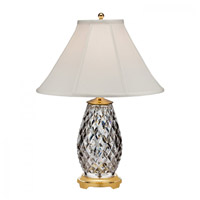 Waterford Crystal 40023734 Diama 28 inch Polished Brass Table Lamp Portable Light