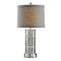 Waterford Crystal 40023735 Linear 26 inch Satin Nickel Table Lamp Portable Light