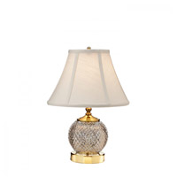 Waterford Crystal 40026128 Alana 16 inch Polished Brass Mini Accent Lamp Portable Light