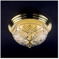 Waterford Crystal 849-285-10-00 Beaumont 3 Light 17 inch Polished Brass Flush Mount Ceiling Light