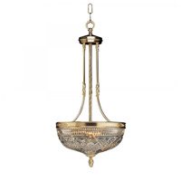 Beaumount 3 Light 15 inch Polished Brass Pendant Ceiling Light