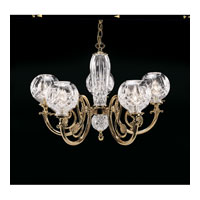 Waterford Crystal Solid Brass Arms and Fittings Lismore Five Arm Chandelier 950-000-54-11