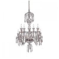 Avoca 10 Light 28 inch Clear Crystal Chandelier Ceiling Light