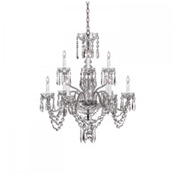 Ashbourne 9 Light 28 inch Clear Crystal Chandelier Ceiling Light