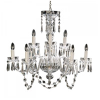 Waterford Crystal 950-000-36-11 Lismore 9 Light 32 inch Clear Crystal Chandelier Ceiling Light