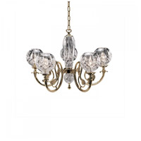 Lismore 5 Light 27 inch Polished Brass Chandelier Ceiling Light