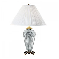 Waterford Crystal 991-934-13-10 Belline 29 inch 100 watt Polished Brass Table Lamp Portable Light