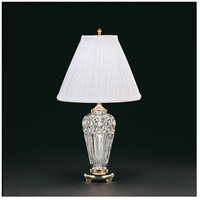 Waterford Crystal 991-934-18-10 Belline 18 inch 60 watt Polished Brass Accent Lamp Portable Light