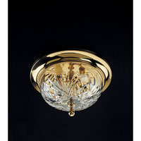 Kilkenny 13 inch Polished Brass Flush Mount Ceiling Light