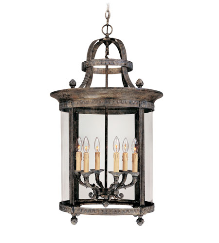 World Import Designs Chatham 6 Light Foyer in French Bronze 1606-63 photo