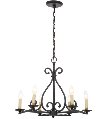 World Import Designs 61817-42 Rennes 6 Light 23 inch Rust Chandelier Ceiling Light photo
