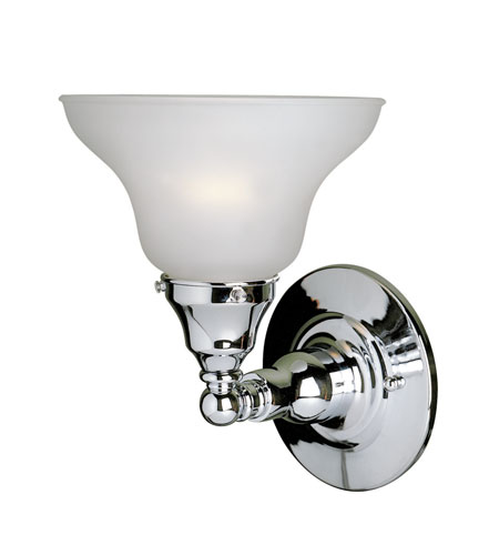 World Import Designs Asten 1 Light Bath Light in Chrome 2601-08 photo