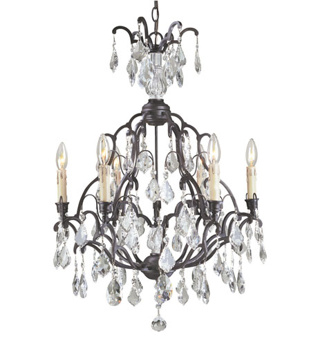 World Import Designs Timeless Elegance 6 Light Chandelier in Bronze 2616-89 photo
