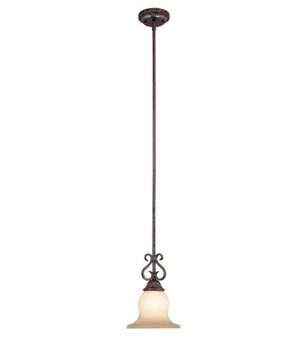 World Import Designs 2812-95 Athos 1 Light 8 inch Renaissance Bronze Mini Pendant Ceiling Light photo