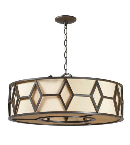 World Import Designs Decatur 5 Light Pendant in Rust 3505-42 photo
