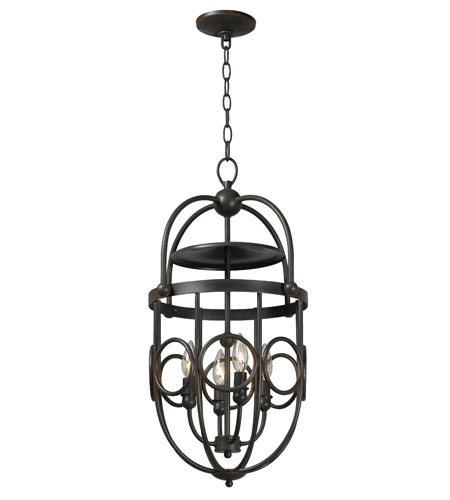 World Import Designs Belle Chasse 4 Light Foyer in Rust 3514-42 photo