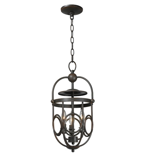 World Import Designs 3523-42 Belle Chasse 3 Light 10 inch Rust Foyer Ceiling Light photo