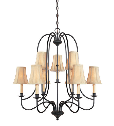 World Import Designs Brondy 9 Light Chandelier in Aged Ebony 3749-34 photo