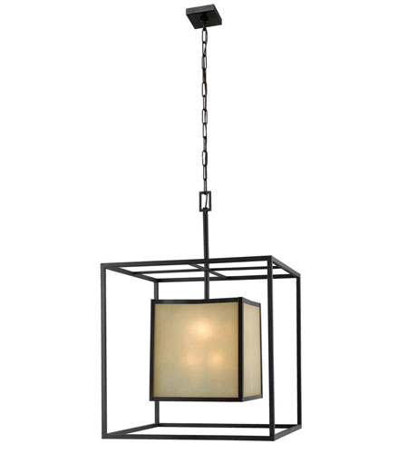 World Import Designs Hilden 8 Light Chandelier in Warm Mahongany 4113-55 photo