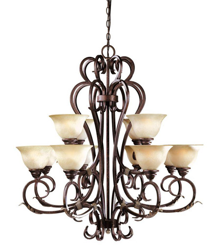 World Import Designs 2621-24 Olympus Tradition 12 Light 16 inch Crackled Bronze/Silver Chandelier Ceiling Light photo