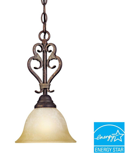 World Import Designs 2631-24 Olympus Tradition 1 Light 9 inch Crackled Bronze/Silver Mini Pendant Ceiling Light photo