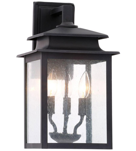 World Import Designs 9106-42 Sutton 3 Light 16 inch Rust Outdoor Wall Sconce photo