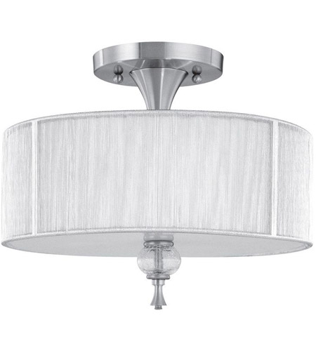 World Import Designs 8273-37 Bayonne 3 Light 17 inch Brushed Nickel Semi-Flush Mount Ceiling Light photo