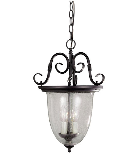 World Import Designs 76303-42 Cardiff 3 Light Rust Pendant Ceiling Light photo