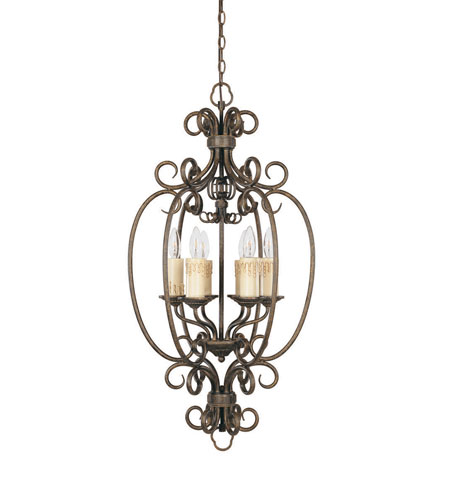 World Import Designs Sheffield 6 Light Foyer in French Bronze 5057-63 photo