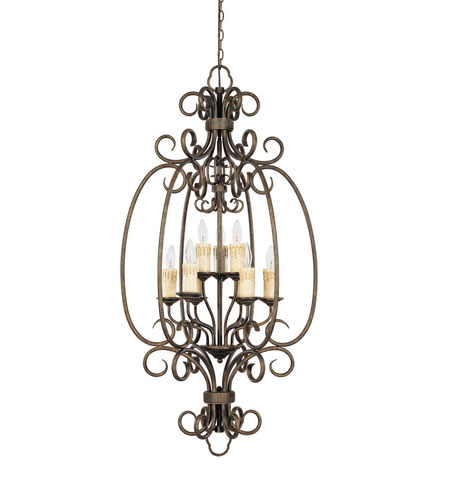 World Import Designs Sheffield 9 Light Foyer in French Bronze 5059-63 photo