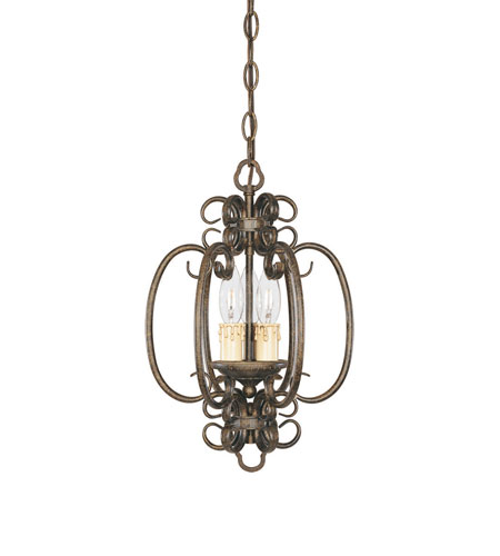 World Import Designs Sheffield 3 Light Foyer in French Bronze 5073-63 photo