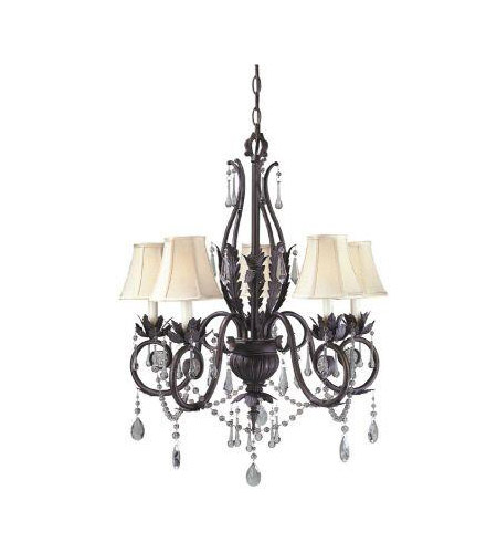 World Import Designs 751-62 Berkeley Square 5 Light 9 inch Weathered Bronze Chandelier Ceiling Light photo