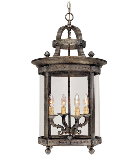 World Import Designs 1604-63 Chatham 4 Light 16 inch French Bronze Interior Lantern Ceiling Light photo