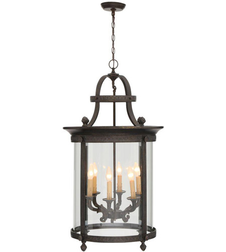 World Import Designs 1606-63 Chatham 6 Light 12 inch French Bronze Outdoor Chandelier Lantern Ceiling Light photo