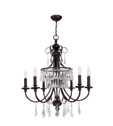 World Import Designs Lille 6 Light Chandelier in Bronze 5846-89 photo