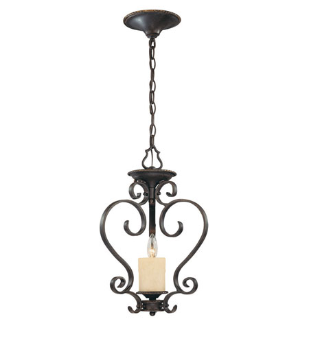 World Import Designs Stafford Spring 1 Light Semi-Flush Mount in Dark Antique Bronze 5971-97 photo