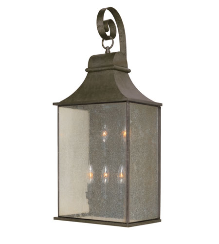 World Import Designs Revere 5 Light Outdoor Wall Lantern in Flemish 61306-06 photo