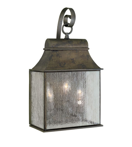 World Import Designs Revere 3 Light Outdoor Wall Lantern in Flemish 61313-06 photo