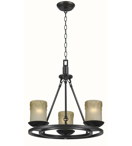 World Import Designs Colchester 3 Light Chandelier in Oiled Rubbed Bronze 6133-88 photo