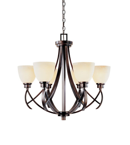 World Import Designs 61515-56 Beyond Modern 6 Light 27 inch Weathered Copper Chandelier Ceiling Light photo